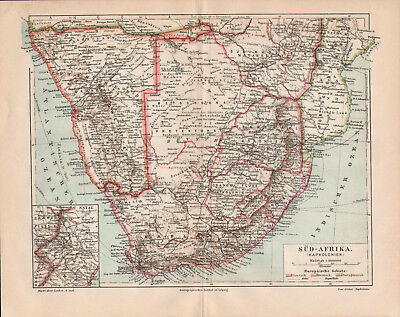 Antique map. SOUTH AFRICA. 1905