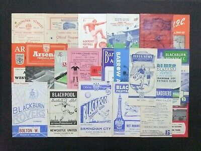 157 Football Programmes from the 1930's onwards