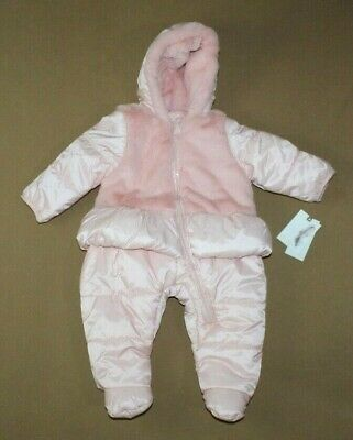 d2bfd9007 BABY GIRLS RALPH Lauren Quilted Snowsuit -size 9 Months- Cream -NWT ...