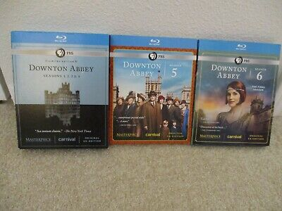 DOWNTON ABBEY 1-6 Blu-Ray Complete Series Collection Season Original UK Edition!