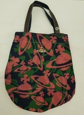 08cd9f74dd VIVIENNE WESTWOOD FABRIC Tote Bag in Blue Colour   Vintage  Rare ...