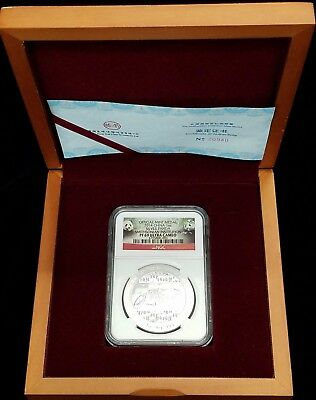 2014 China 1 oz Silver Panda Medal Smithsonian Institution NGC PF69 Ultra Cameo