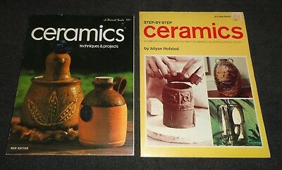 Two Books -- Ceramics techniques and projects 1973 & Step-by-Step Ceramics 1967