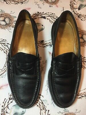0693d470442 ALDEN CAPE COD COLLECTION Sz 11E Black Beef Roll Penny Loafers ...