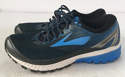bd6e7891def Men s Ghost 10 Running Shoe Sz 9 - Ebony Metallic Charcoal Electric Brooks  Blue
