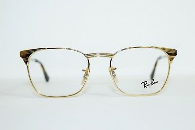 698788d0e8 Brand New Authentic Ray-Ban Rb 6386 2500 Gold Frames Eyeglasses Rx 53 Mm  Rb6386