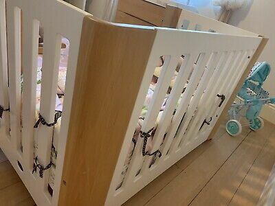 Boori Crib Set (With Mattress, Cot And Drawers)