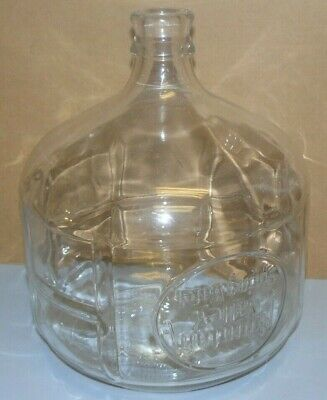 Vintage Glass Water Cooler Bottle SMALL 2.5 Gallon Mountain Valley Spring