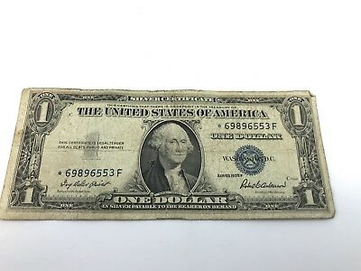 1935-F $1 One Dollar Blue Seal Collector Star Note Silver Certificate **