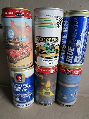 Motor Racing Collectable Cans X 6, Getting Hard!!