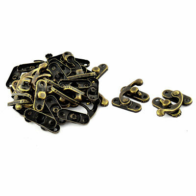 Padlock Hasp Hook Horns Vintage Style Jewelry Box Buckle Shackle Lock 20pcs