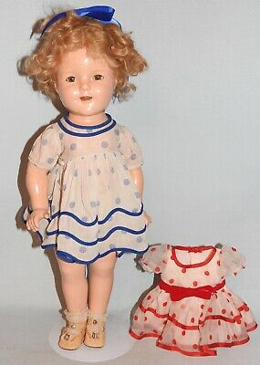 Antique Vintage 18in 46cm Composition Shirley Temple Doll. Late 1934 By Ideal