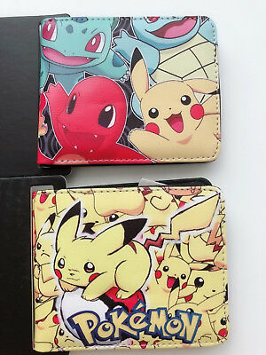 Boy Kids Children Pokemon Go Pikachu Card Wallet Purse Birthday Easter gift him