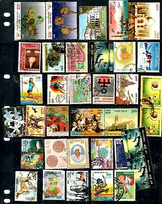 India- 395 x commemorative stamps, nice colourful mixture, some duplicates (34B)