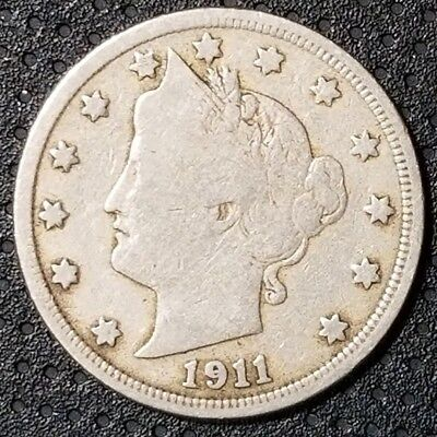 """1911 Liberty Head """"V"""" Nickel Nice Coin For Your Collection FREE SHIPPING"""