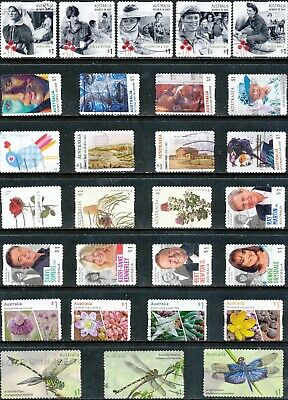 Australian Stamps $1.00 Mixture Recent - Used/Bulk