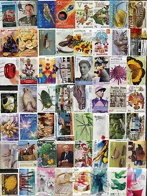 Australian Stamps Mixture  2000 to 2018 (2 pages) Used/Bulk