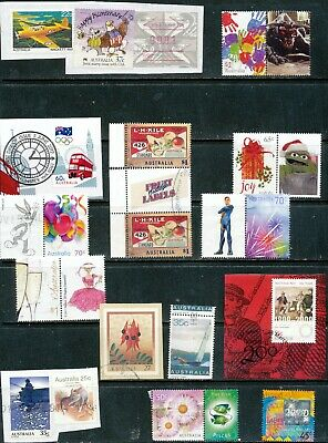 Australian Stamps Unusual Mixture (5 lots on paper)- Used/Bulk