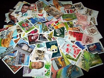 Australian Stamps 55c 100 Different - Full Sets Used/Bulk