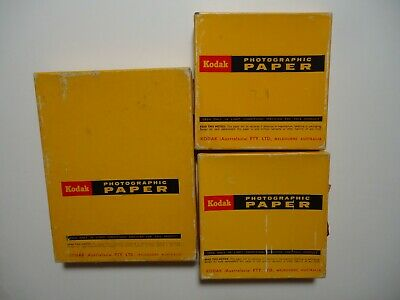 3 boxes of Kodak Photographic paper. Used to develope photos.