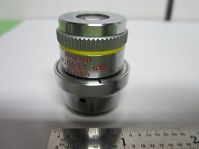 Microscope Objective Leitz Dic Prismes 10x Npl Fluotar Infinity Optiques