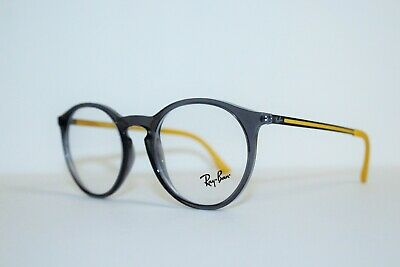 a8c5348812 New Authentic Ray-Ban Rb 7132 5722 Grey Yellow Frames Eyeglasses 50 Mm  Rb7132