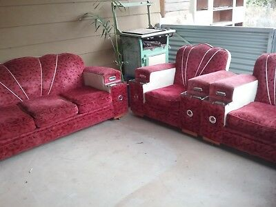 Art Deco Vintage Retro Sofa Lounge Suite in fantastic original condition!