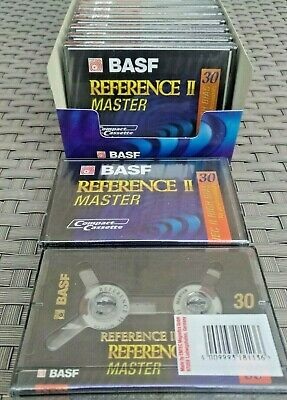 Pack 10 cassettes audio neuves BASF REFERENCE II MASTER 30 min IEC II HIGH BIAS