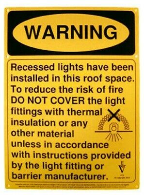 2x Repelec DOWNLIGHT WARNING SIGNS Flexible & Durable, Prevent Personal Injury