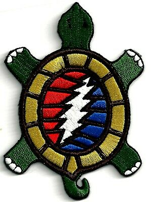 GRATEFUL DEAD - STEAL YOUR FACE/TURTLE - IRON ON or SEW ON PATCH