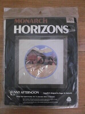 Unworked Horizons Longstitch Kit. Sunny Afternoon. Made Usa