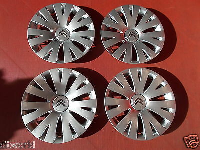 "Genuine Citroen Berlingo Mk3 Set Of 4 15"" Wheel Trims 98136143Vv"