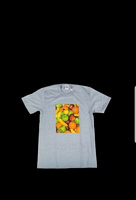 d022b59d Supreme Fruit Tee Heather Grey Size Large Ss19 T-Shirt Gray Black Box Logo  Cdg