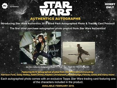Star Wars Authentics Autographs Hobby Box (Topps 2019) STAR WARS CARDS!