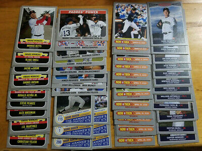 2019 Topps Heritage Inserts you pick choice Scratch/New Age/Flashback/Then-Now