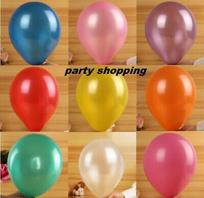 "100 10"" Latex PEARLISED Ballons baloons  Quality Party Birthday Wedding baloon"