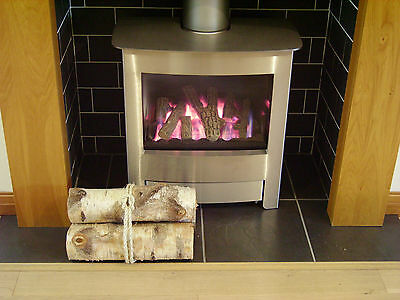 Decorative Display Logs. Natural Silver Birch Bark wood logs for fireplace decor