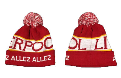 Liverpool Style  Adult  Bobble Hat  (Allez Allez Allez)   FREE (UK) P+P