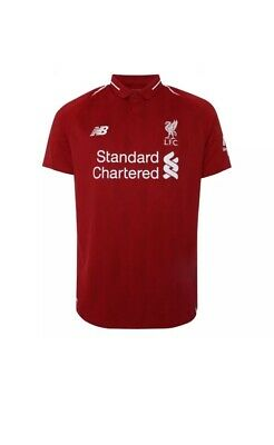 """Liverpool Home Shirt 2018/19 """"First Class Delivery"""", sizes(M/L) Brand New £19.99"""
