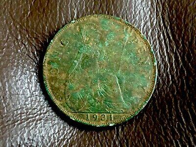 1931 King George V British One Penny Coin