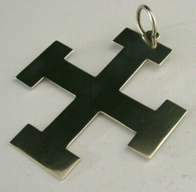 QUALITY STERLING SILVER RELIGIOUS WALL CROSS CRUCIFIX 1905 ANTIQUE 3inch