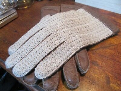 Vintage Dents Wool Lined Ladies Driving Gloves