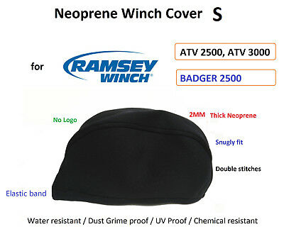 Ramsey Winch Neoprene Cover for ATV UTV  2000 2500 3500 4500 Waterresist S 01