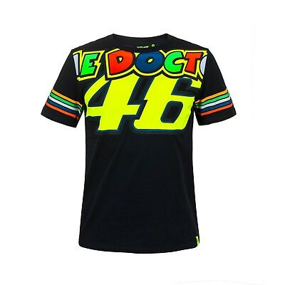 2018 Valentino Rossi VR46 Moto GP DOCTOR 46 Stripes T Shirt Tee MENS - OFFICIAL