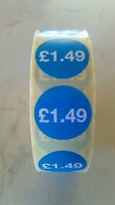 £1.49 Self Adhesive 20mm Blue Price Labels