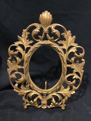 Oval Gold Cast VICTORIAN ORNATE EASEL FRAME. C4