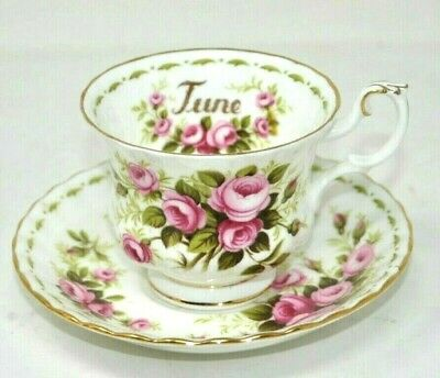 Royal Albert JUNE ROSES Flower Of The Month Tea Cup & Saucer