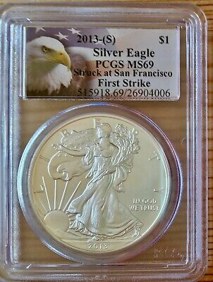 2013-(S) American Silver Eagle PCGS MS69 First Strike