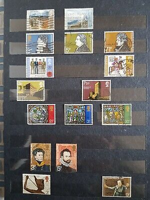 GB QE11 Used Decimal Pictorials 1971-1980 Approx 219 Many Full Sets No Duplicate