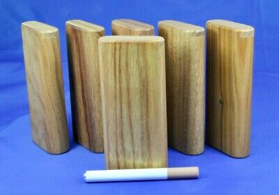 "4"" Dugout one hitter six pack of imported Canary wood and aluminum cigarettes"